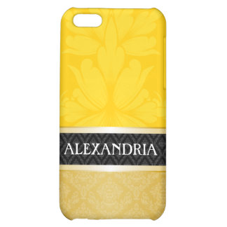 Yellow-Gold & Gold Customized Damask iPhone 4 Case
