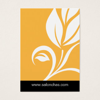 Yellow Gold Leaf Salon Spa Gift Card Certificate