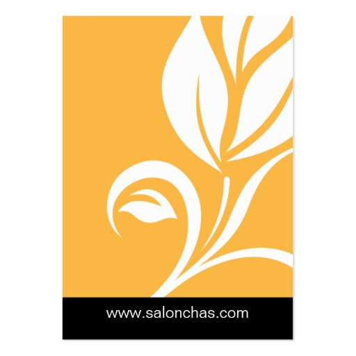 Yellow Gold Leaf Salon Spa Gift Card Certificate Business Card Templates