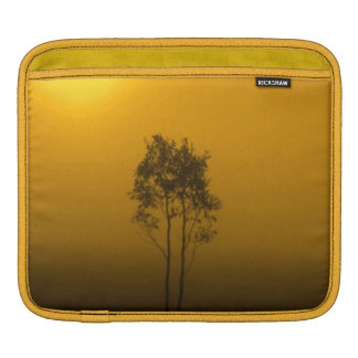 Yellow Gold Mustard Trees Sunrise Nature Photo Art Sleeves For iPads
