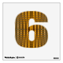 yellow gold pattern wall decal