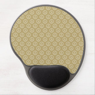 Yellow Gold Peace Signs Gel Mouse Pad