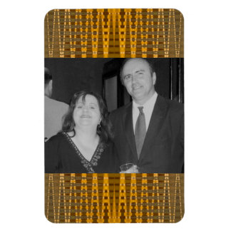 yellow gold photo frames magnet