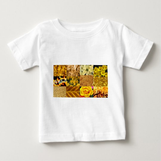 Yellow / Gold Photos Collage Baby T-Shirt