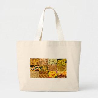 Yellow / Gold Photos Collage Bag