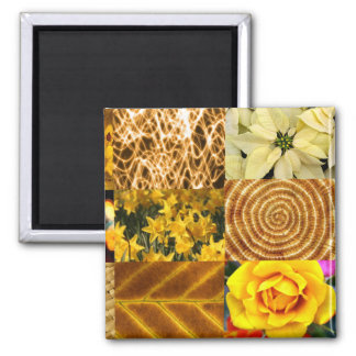 Yellow / Gold Photos Collage Magnet