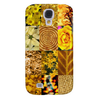 Yellow / Gold Photos Collage Samsung Galaxy S4 Cover
