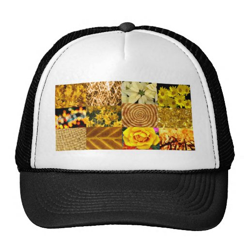 Yellow / Gold Photos Collage Trucker Hat