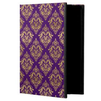 Yellow Gold & Purple Floral Damasks Pattern Powis iPad Air 2 Case