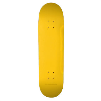 Yellow Gold Skateboard
