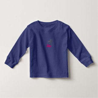 Yellow Gold Sparkle Diamond Butterfly Name Toddler T-shirt
