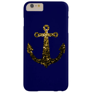 Yellow Gold sparkles Anchor iPhone 6 Plus Case