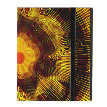 Yellow Gold Spiral Psychedelic iPad Case