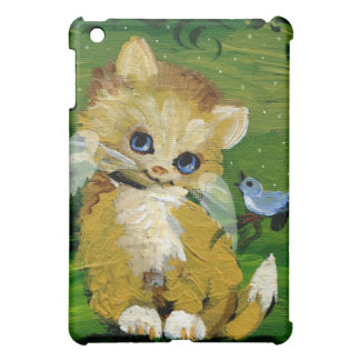 Yellow Gold Tabby Angel & Bluebird Cover For The iPad Mini