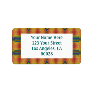 yellow gold teal personalized address labels