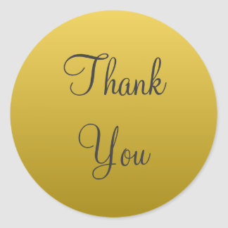 Yellow Gold Thank You Stickers