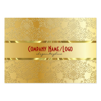 Yellow Gold Tones-Abstract Pattern Large Business Card