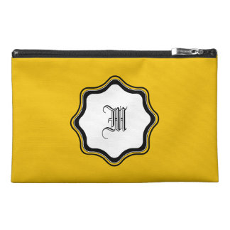 Yellow Gold Travel Accessory Bag