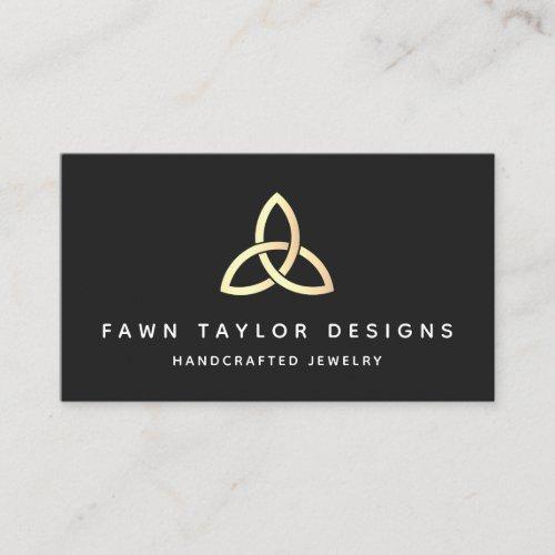 Yellow Gold Trinity Knot Celtic Symbol