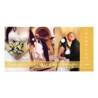 YELLOW GOLD UNION | WEDDING THANK YOU CARD