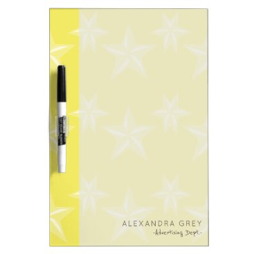 Professional Business Yellow gold with big white stars patterned Dry-Erase board