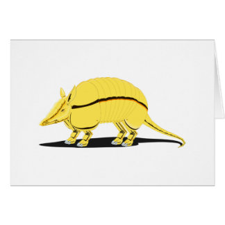 Yellow/Golden Armadillo with Black Stripe on Side Greeting Card