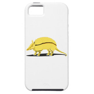 Yellow/Golden Armadillo with Black Stripe on Side iPhone 5 Cases