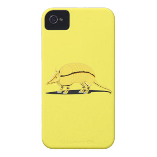 Yellow/Golden Armadillo with Black Stripe on Side iPhone 4 Case-Mate Case