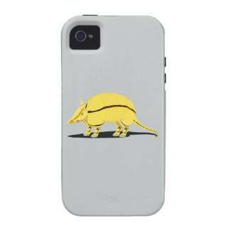 Yellow/Golden Armadillo with Black Stripe on Side iPhone 4/4S Covers