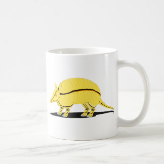 Yellow/Golden Armadillo with Black Stripe on Side Coffee Mug
