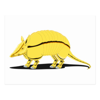 Yellow/Golden Armadillo with Black Stripe on Side Postcard