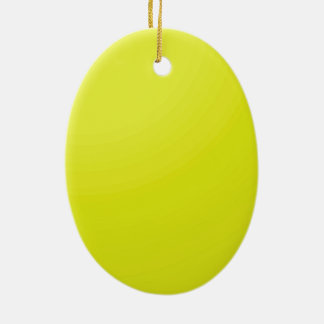 Yellow Golden Color Shade Blanks: Add text image Double-Sided Oval Ceramic Christmas Ornament