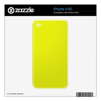 Yellow Golden Color Shade Blanks: Add text image Skins For iPhone 4S