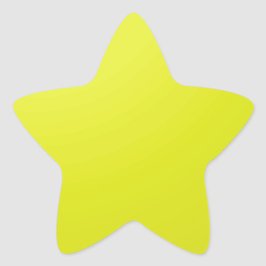 Yellow Golden Color Shade Blanks: Add text image Star Sticker