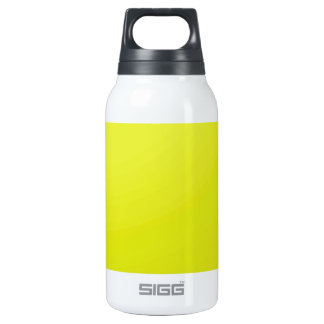 Yellow Golden Color Shade Blanks: Add text image Thermos Water Bottle