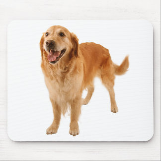 Yellow Golden Retriever Puppy Dog Smiling Mouse Pad