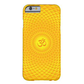 Yellow Golden Sun Lotus flower meditation wheel OM Barely There iPhone 6 Case