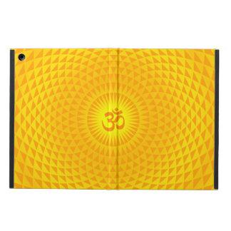 Yellow Golden Sun Lotus flower meditation wheel OM Case For iPad Air
