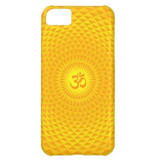 Yellow Golden Sun Lotus flower meditation wheel OM Cover For iPhone 5C