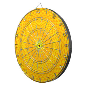 Yellow Golden Sun Lotus flower meditation wheel OM Dartboard With Darts