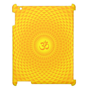 Yellow Golden Sun Lotus flower meditation wheel OM iPad Cases