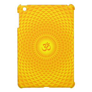 Yellow Golden Sun Lotus flower meditation wheel OM iPad Mini Cover