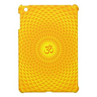 Yellow Golden Sun Lotus flower meditation wheel OM iPad Mini Cover