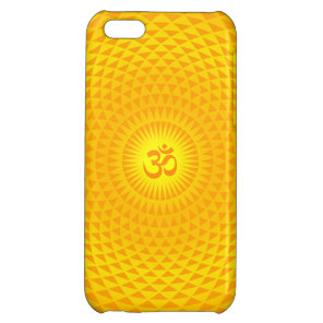 Yellow Golden Sun Lotus flower meditation wheel OM iPhone 5C Case