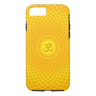 Yellow Golden Sun Lotus flower meditation wheel OM iPhone 7 Case