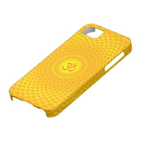 Yellow Golden Sun Lotus flower meditation wheel OM iPhone SE/5/5s Case