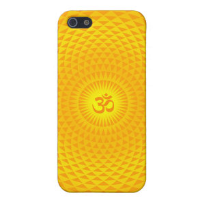 Yellow Golden Sun Lotus flower meditation wheel OM iPhone SE/5/5s Cover