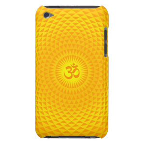 Yellow Golden Sun Lotus flower meditation wheel OM iPod Case-Mate Case