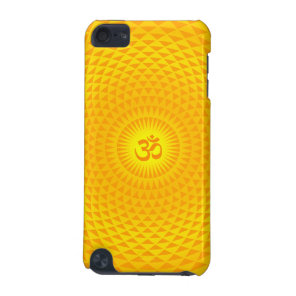 Yellow Golden Sun Lotus flower meditation wheel OM iPod Touch 5G Case