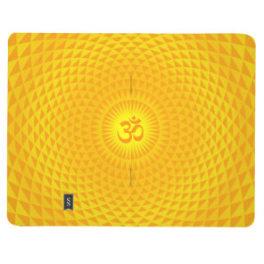 Yellow Golden Sun Lotus flower meditation wheel OM Journal